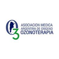 Asociación Médica Argentina de Ozonoterapia. Logo y enlace de esta asociación de ozonoterapia.