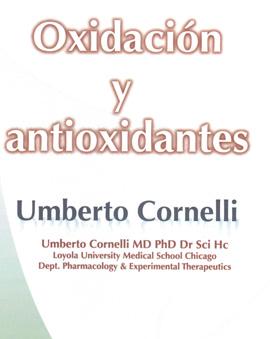 """Portada del libro """"Oxidación y antioxidantes"""" de Umberto Cornelli."""