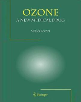 "Portada del libro ""Ozone. A new medical drug"" de Velio Bocci. Libros de ozonoterapia."