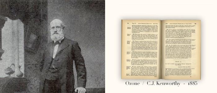 """1885. Se publica el primer libro en la historia de la ozonoterapia: """"Ozono"""", del doctor Charles J. Kenworthy, donde se detalla el uso del ozono con fines terapéuticos."""