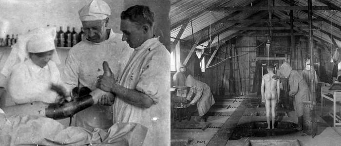 1914-1918. Durante la Primera Guerra Mundial se utiliza el ozono para tratar heridas, gangrena y envenenamiento por gas. Historia de la ozonoterapia.