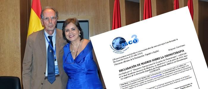 """2010. Se emite en España la """"Declaración de Madrid sobre la Ozonoterapia"""", que firman 28 asociaciones nacionales y federaciones internacionales de ozonoterapia de África, América, Asia y Europa. Se trata del primer documento consensuado en la historia sobre el ozono para uso médico. Se traduce a once idiomas. Aquí la puedes comprar."""
