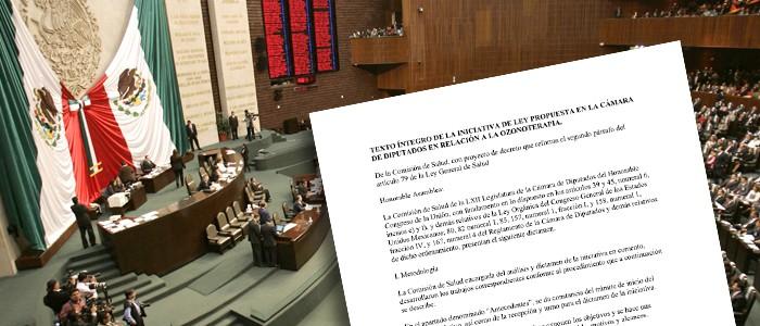 2014. Se presenta en México la iniciativa de ley para la regulación de la ozonoterapia en la Cámara de Diputados.